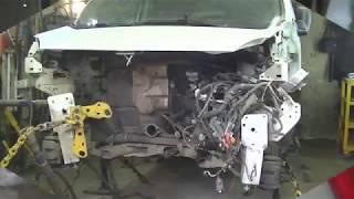 Рено Кенго - передний удар . Ч - 1 . Кузовной ремонт . Рихтовка .