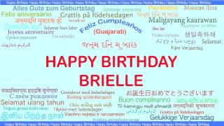 Brielle   Languages Idiomas - Happy Birthday