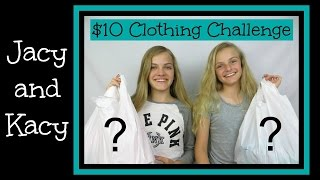 10 Dollar Clothing Challenge ~ Jacy and Kacy