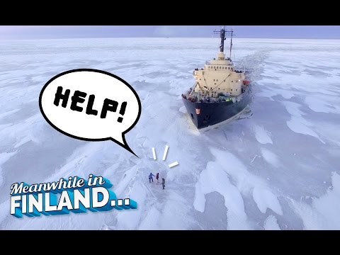 Getting Run Over by Icebreaker Ship? (GAME) - Meanwhile In Finland EP3