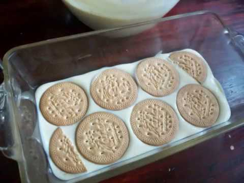 como se hace el postre de galletas marias