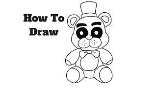 How to Draw Fredbear Plush | FNAF Step by step