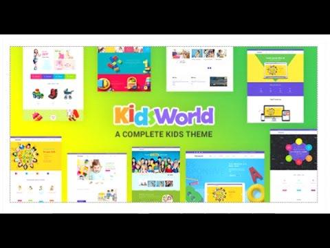 Kids World - Children Kids WordPress Theme | Themeforest Download ...