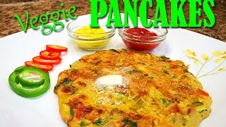 Spicy Veggie Pancakes - Breakfast recipe - Quick