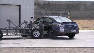 2013 Honda Civic Hybrid Sedan | Side Crash Test by NHTSA | CrashNet1