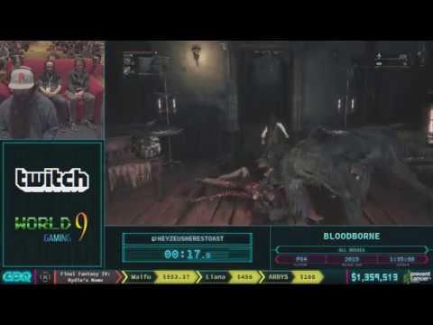 Bloodborne by heyZeusHeresToast in 1:37:49 AGDQ 2018