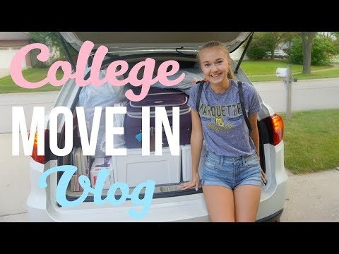 COLLEGE MOVE IN VLOG 2017 | Marquette University