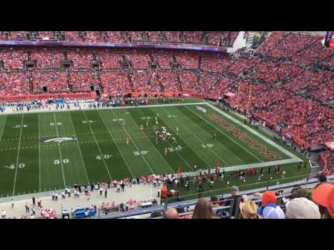 Fans get loud at Sports Authority Field at Mile High