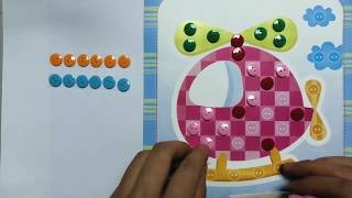 Kid Button Handmade Art_Helicopter Cartoon Craft Making Video