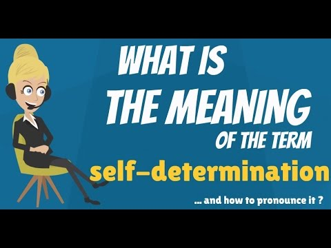 What is SELF-DETERMINATION? What does SELF-DETERMINATION mean? SELF-DETERMINATION meaning
