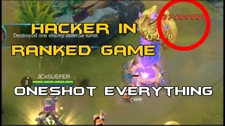 Mobile Legends - HACKER in RANKED game | Oneshot everything!