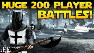 EPIC 200 PLAYER BATTLES! Of Kings and Men Open World Medieval Castle Building Game w/ Gameplay