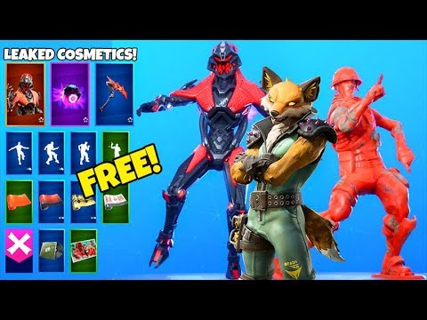 *NEW* Skins & Emotes..! (FREE Rewards, FOX skin, Sneaky Emote LEAKED) Fortnite Battle Royale