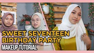 SWEET 17 BIRTHDAY PARTY MAKEUP TUTORIAL | DE'ZAHRA MAKEUP EPS4