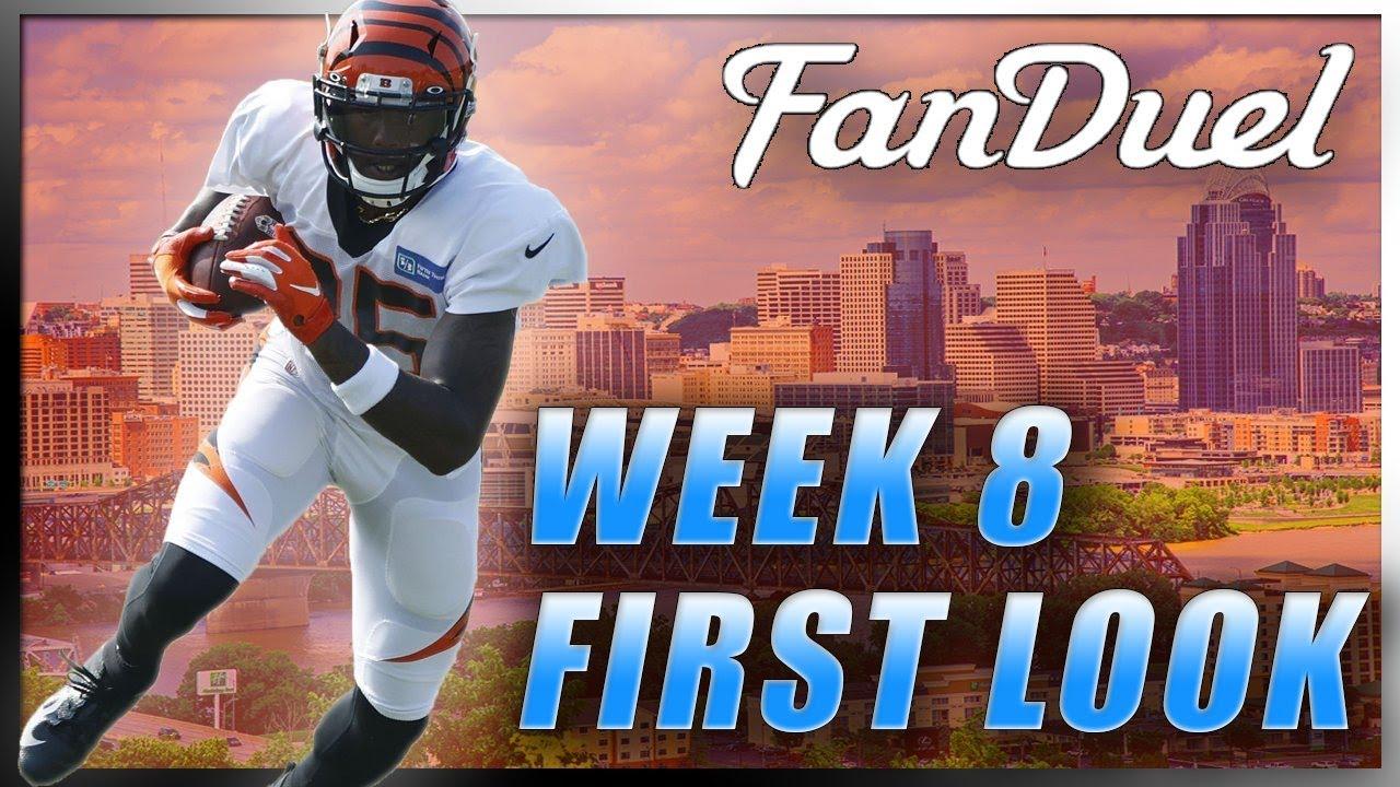FANDUEL WEEK 8 FIRST LOOK LINEUP: NFL DFS PICKS