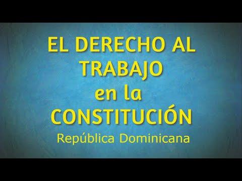 derecho-al-trabajo-según-la-constituciÓn-dominicana