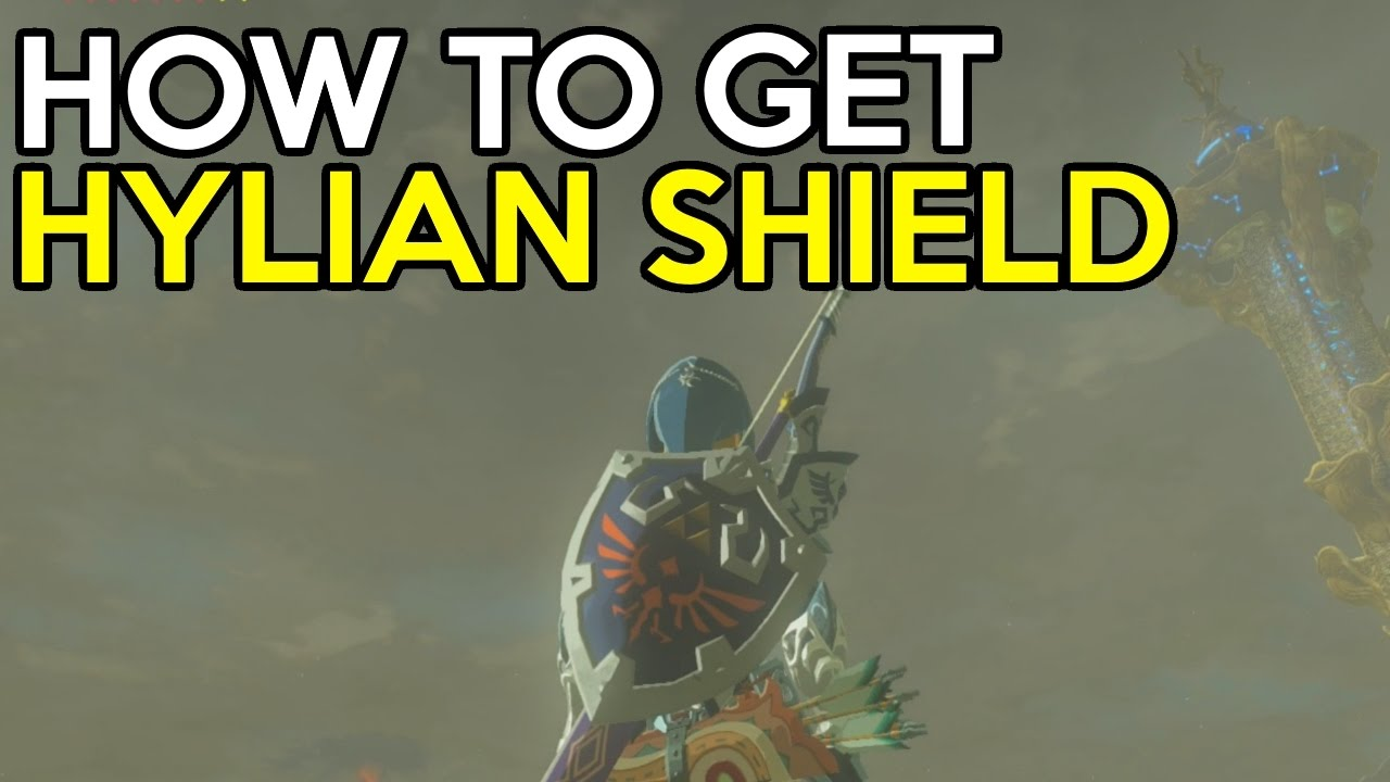How To Easily Get The Hylian Shield Legend Of Zelda Breath Of The Wild Youtube