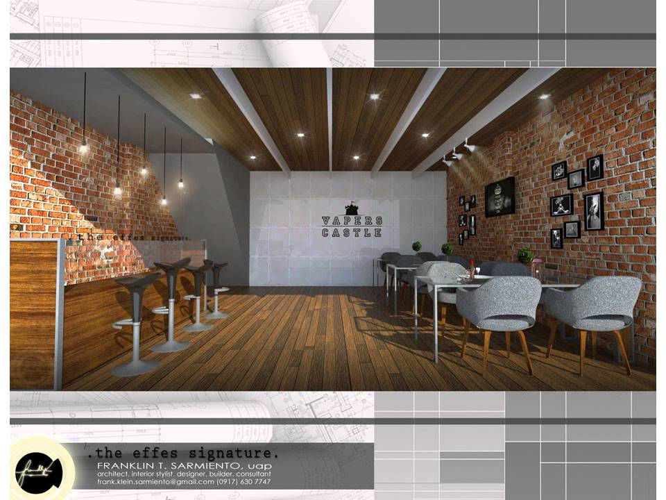 MODERN INDUSTRIAL STYLE VAPE SHOP INTERIOR - YouTube