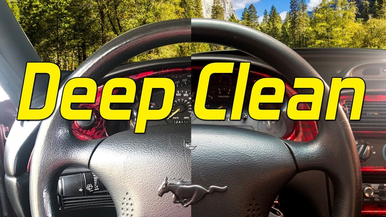 How To Deep Clean Your Steering Wheel Youtube