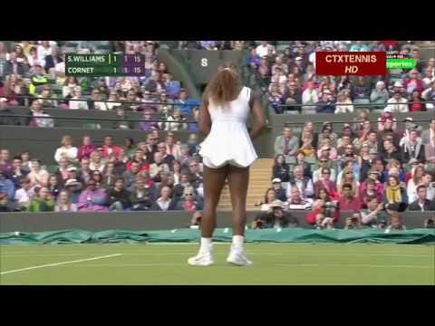 Alize Cornet VS Serena Williams Highlight 2014 R3