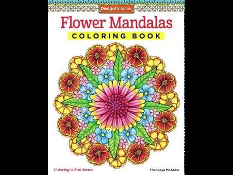 Flower Mandalas Coloring Book Slideshow