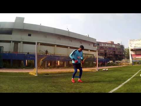 Training with Bengaluru FC keeper Gurpreet SIngh Sandhu & keeper coach Javi