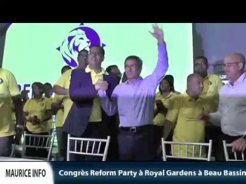 Maurice Info - Congrès Reform Party à Beau Bassin