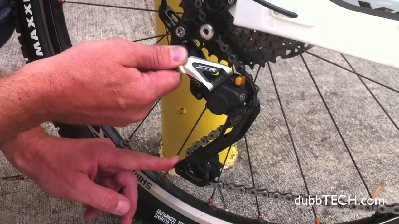 shimano deore rear derailleur manual
