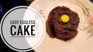 Easy eggless microwave CHOCOLATE CAKE recipe/ tutorial