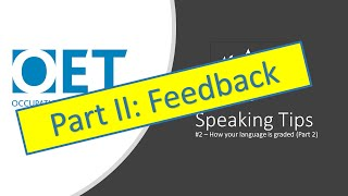 OET Speaking Tips 2: How you are graded - Linguistic Criteria (Part II)