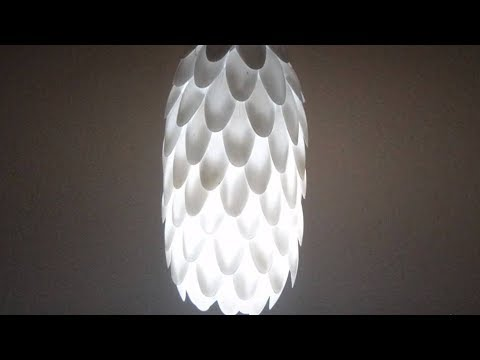 Lovely Plastic Spoon Lamp For DIY Amazing Diwali/Christmas Home Decoration Ideas  Easily