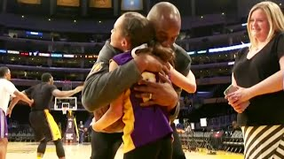 Repeat youtube video Make A Wish - Kobe Bryant Meets A Young Girl With Cerebral Palsy