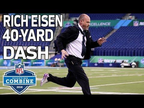 Run Rich Run: Rich Eisen Flies Through 40-Yard Dash! 🏃  2018 NFL Combine Highlights