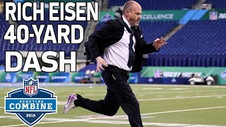 Run Rich Run: Rich Eisen Flies Through 40-Yard Dash! 🏃| 2018 NFL Combine Highlights thumbnail