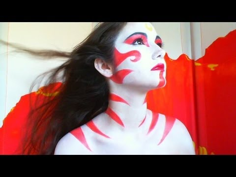 painted lady avatar last airbender makeup