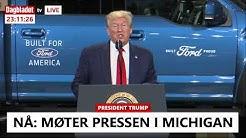 SE TV: Trump møter pressen i Michigan