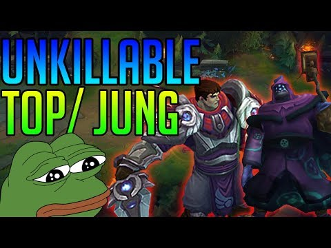 UNKILLABLE TOP AND JUNGLE! - League of Legends Funny Gameplay Moments   Inting Top!!