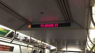 r143 j train arriving chambers street with ride to broad street car 8233