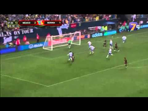 Mxico 2 -1 Bosnia Herzegovina chilena terrible gol de hernadez