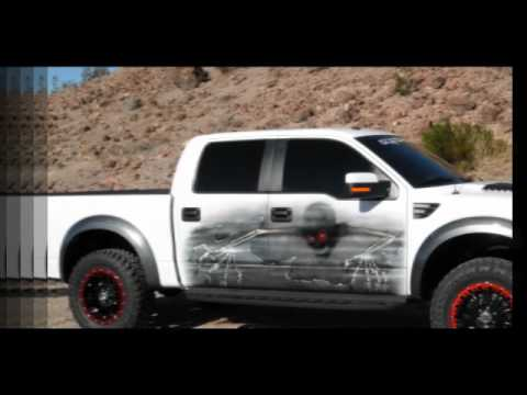 2012 painted graphics ford raptor svt f150 airbrushed custom no decals or stickers