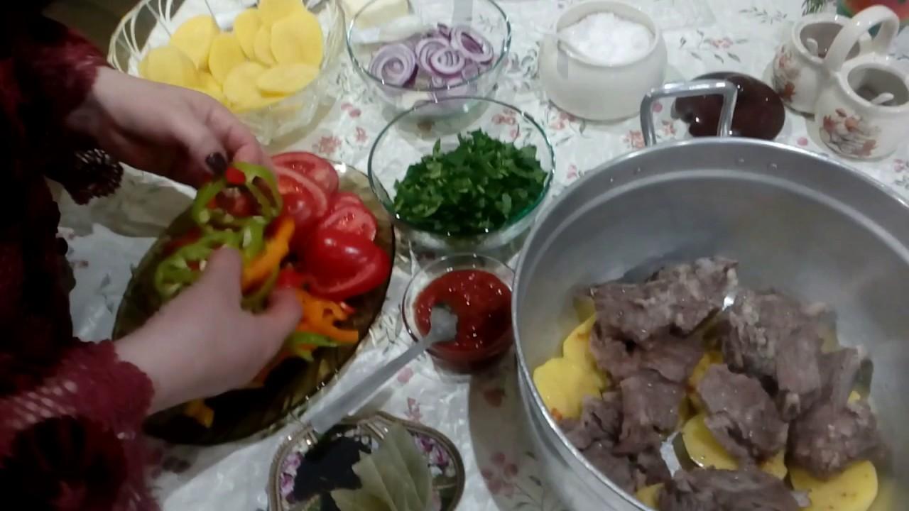 ՀԱՅԿԱԿԱՆ ԽԱՇԼԱՄԱ (շերտավոր)/ՍԱԹԵՆԻԿԻ -ХАШЛАМА по Армянски-KHASHLAMA/Satenik Cooking SHow in Armenian