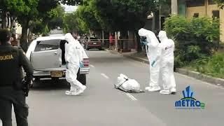 Levantamiento de la Persona baleada en Villa del Rosario