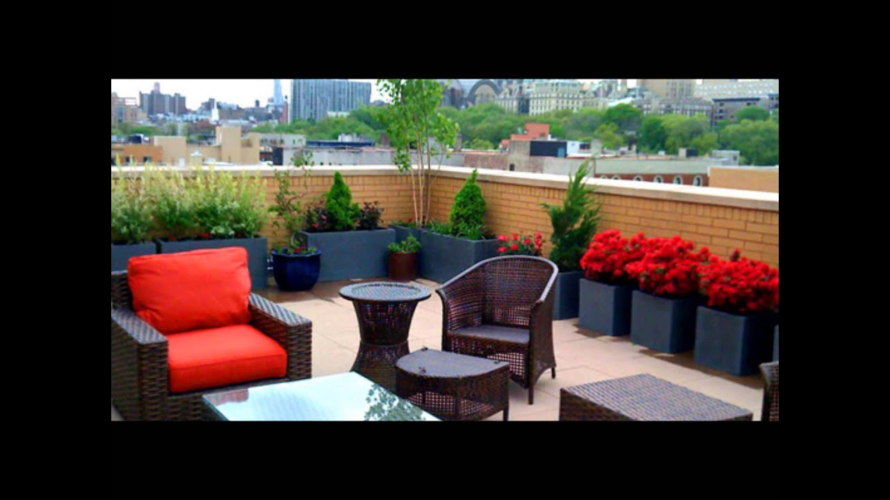Rooftop Garden Design   YouTube