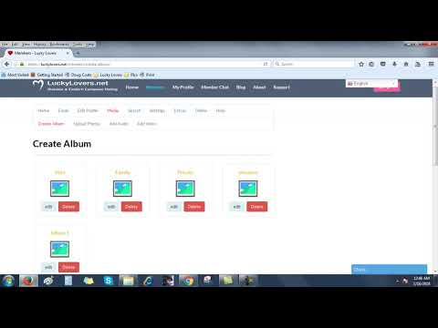 How to add albums and additional photos
