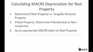 Tax - MACRS-General and Real Property, 1 of 3