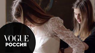 Свадьбы Vogue. Кружевное платье Erdem