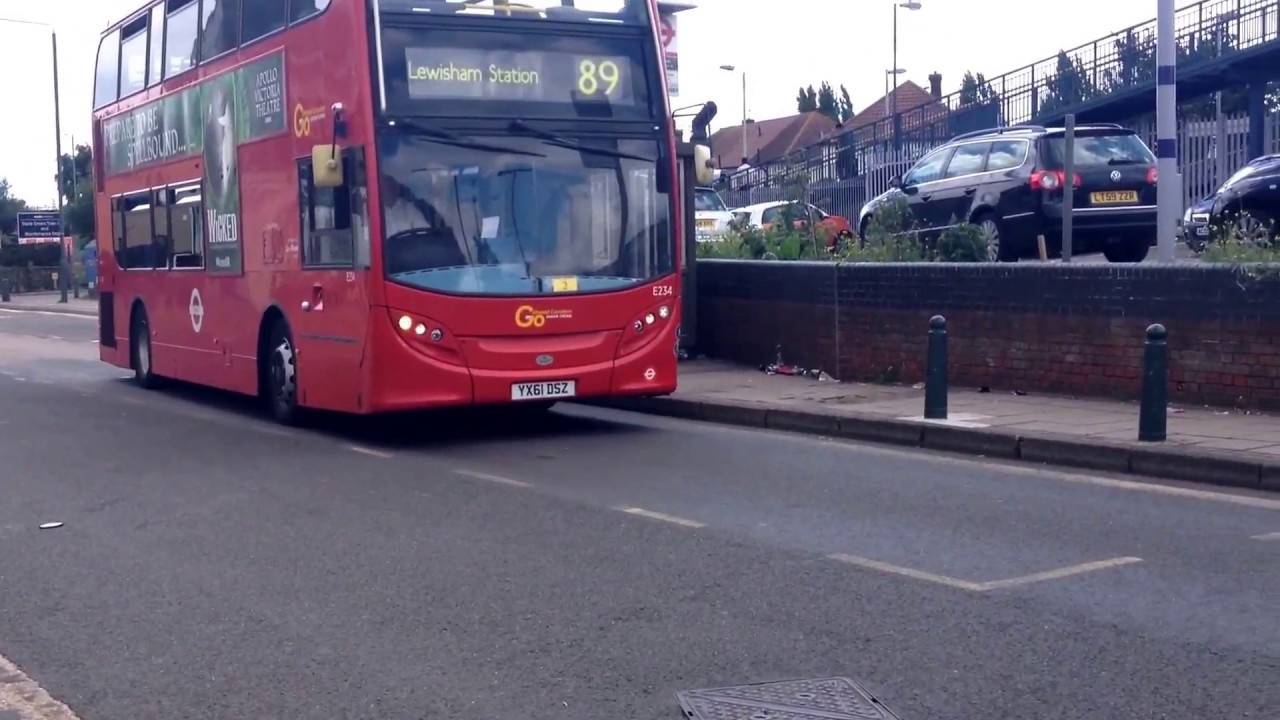 london bus routes 99 and 89 leaving slade green station