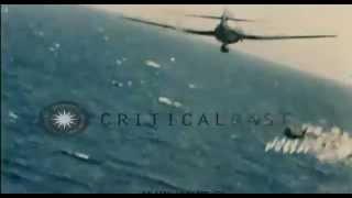 (ガンカメラ) アメリカ軍艦載機に撃墜され爆発する二式大艇 thumbnail