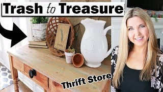 Trash to Treasure Thrift Store Makeover - Home Decor on a budget