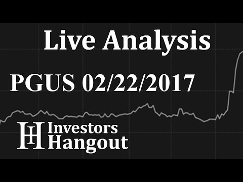 PGUS Stock Live Analysis 02-22-2017